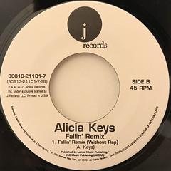 ALICIA KEYS:FALLIN'(LABEL SIDE-B)