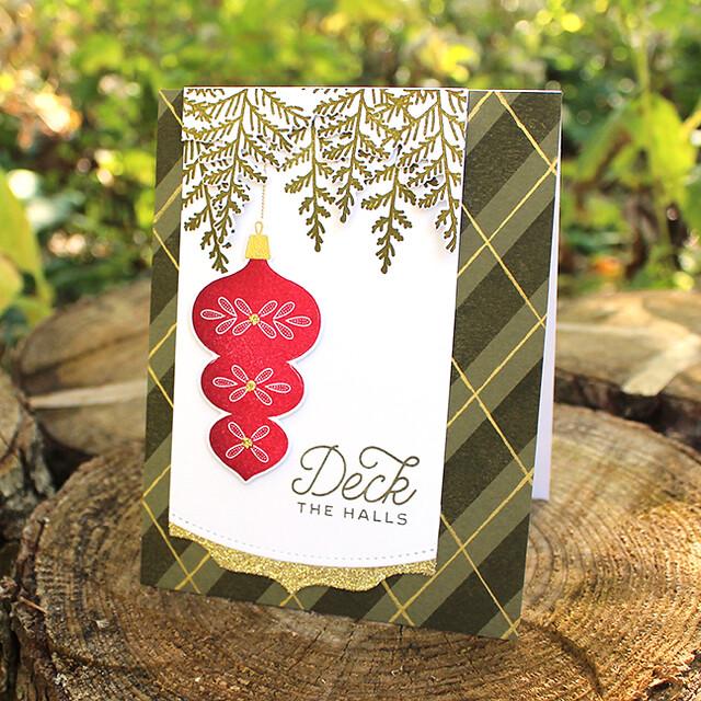 Deck The Halls Ornament Card
