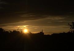 Golden sky in the morning at Preston