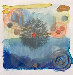 10.15.2017 Meeting the Spirit of Ocean..  #drawingaday #intuitivepainting #energyhealing #beshiny #weboflife  #Awe #wonder  ✨✨✨✨✨✨✨✨✨ #huffpostarts #1241carpenter @CFEVA @phi
