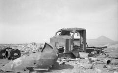 Truck in desert