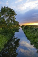 P1100422_Drain_Sunset_Reflections