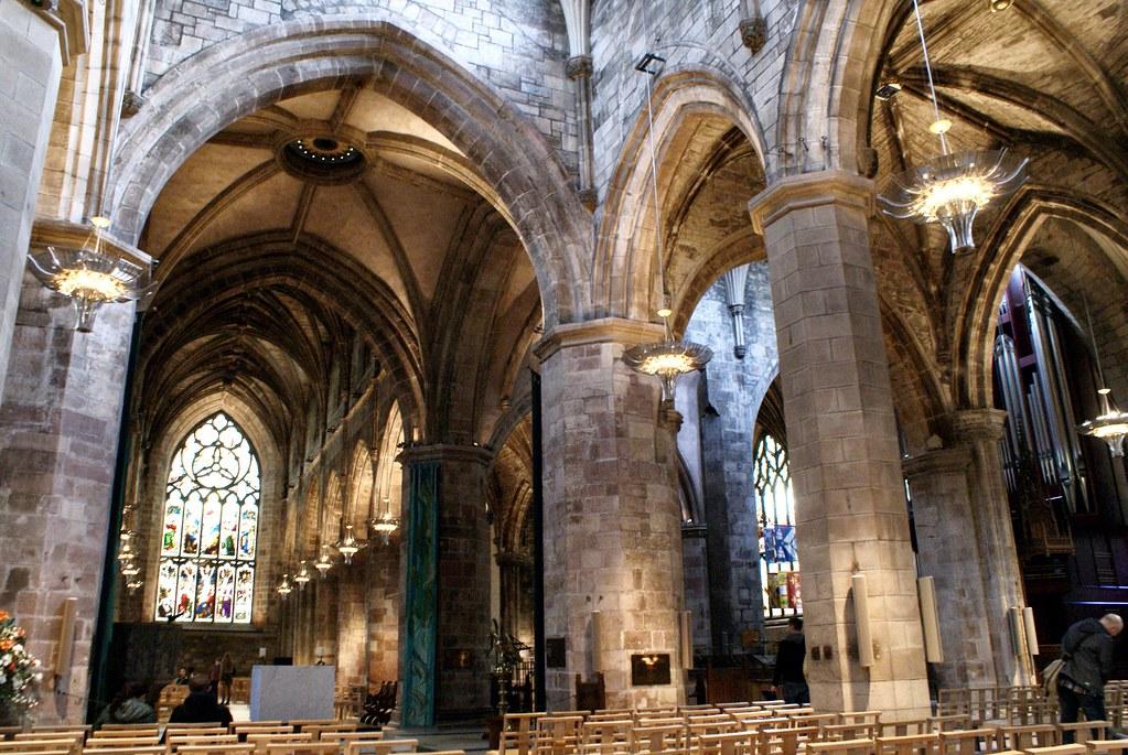 A l'intérieur de la cathédrale Saint Giles d'Edimbourg.
