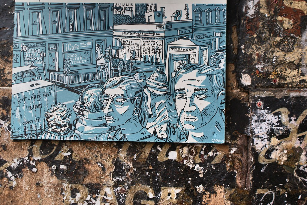 Atelier et boutique de l'illustratrice Chelsea Frew dans le quartier de Finnieston, Glasgow.