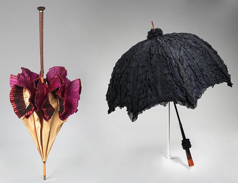 1895 - 1900 parasols. Silk, wood, metal, tortoiseshell.metmuseum