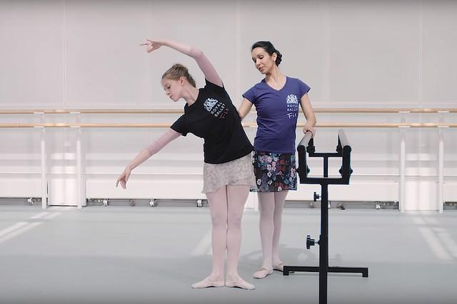 Tara-Brigitte Bhavnani and Estelle Bovay in Royal Ballet Fit, episode 2