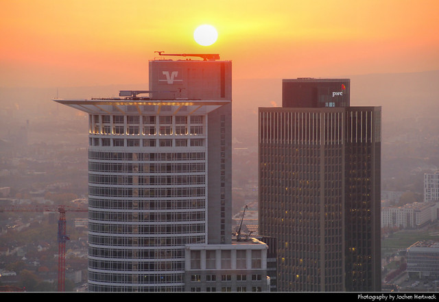 View from Main Tower @ Sunset, Frankfurt, Germany