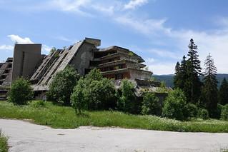 Abandoned hotel from the 1984 Sarajevo Olympics