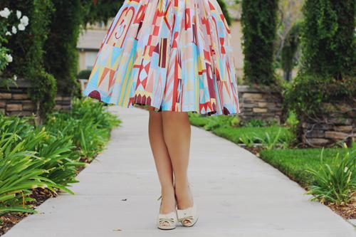 Vintage Inspired by Jackie Atomic Jax Clock Face Halter Dress