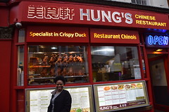 DSC_7800 London Chinatown 唐人街 Wardour Street Lunch at Hung's Chinese Restaurant Roast Duck with Justina - Highly Recommended