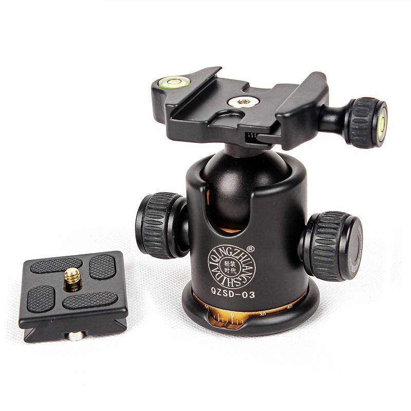 Ball head QZSD-03 bi Đại 36mm gắn chân máy ảnh tripod monopod đế tháo nhanh