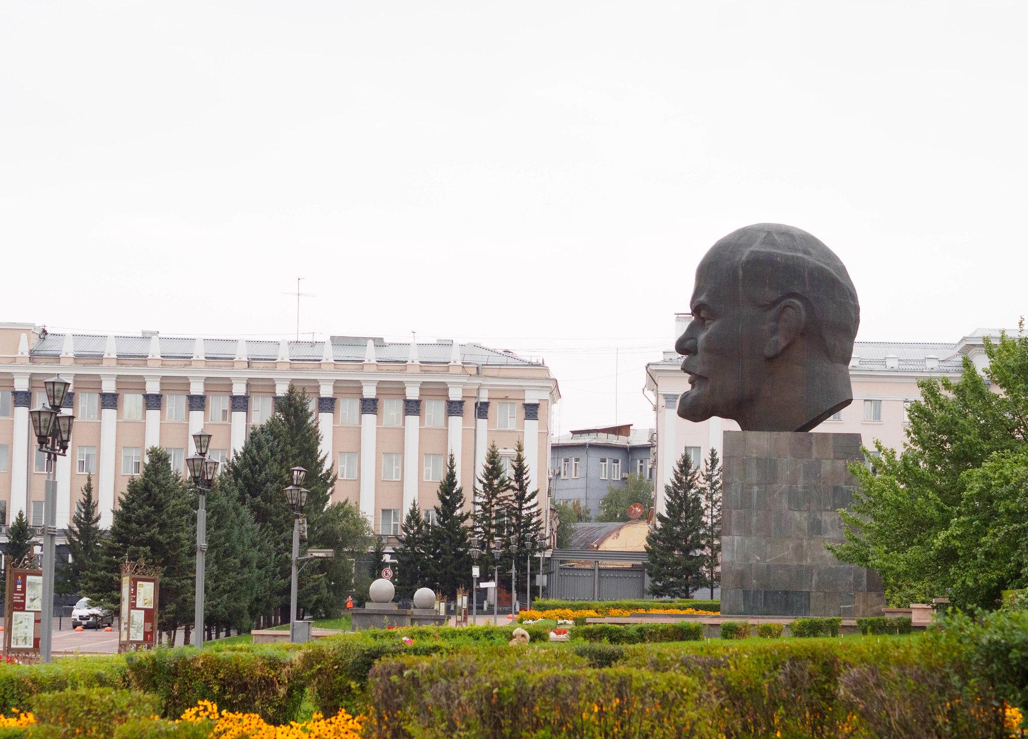 Největší Leninova hlava na světě // The biggest Lenin's head in the World
