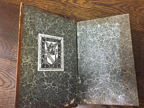 Illustrium Imagines Stirling Maxwell ex libris and endpapers