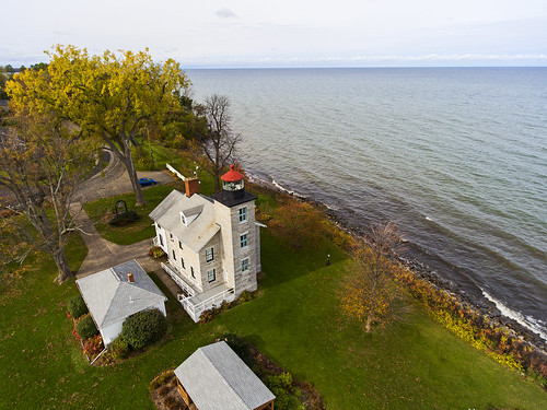 sodus soduspointlight warof1812 lakeontario lighthouse lighthouses 2017 fishing outdoors history historical nature landscape lakeshore greatlakes fall autumn drone drones dji djiphantom4 phantom4 3