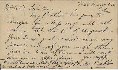 Taintor-BABB 1873 postcard back