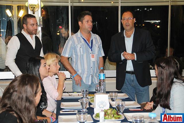 Ekip için düzenlenen akşam yemeğinde ALTİD Başkanı Burhan Sili konuşma yaptı.