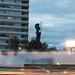 Minerva Fountain at dawn por g g m