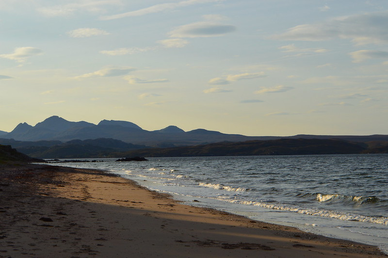 A picture of Gairloch with big sands beach