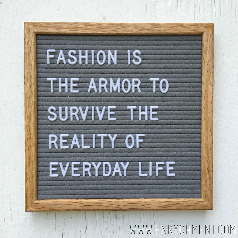 fashion is armor letterboard