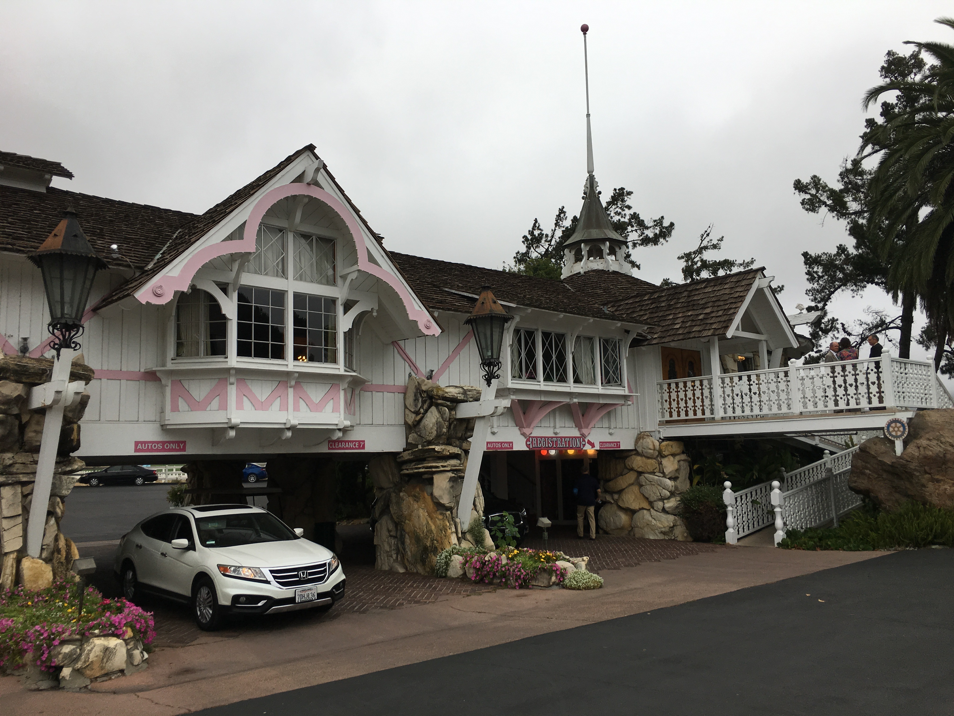Madonna Inn - check in