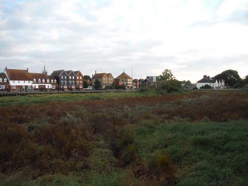Houses along Faversham Creek, from Crab Island