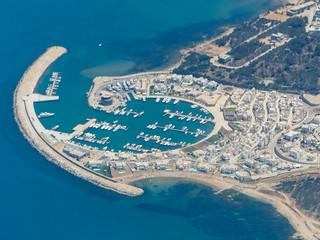 Port de Plaisance de Gammarth au nord de Tunis