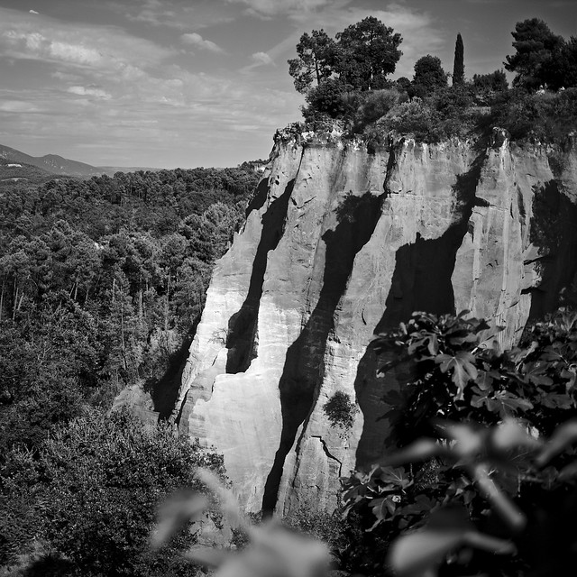 Les ocres de Provence, in BW