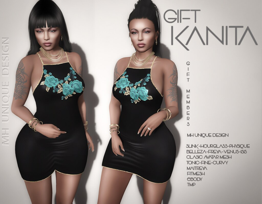 FREE GIFT, for members only, In World-MH-Gift Kanita Dress - TeleportHub.com Live!
