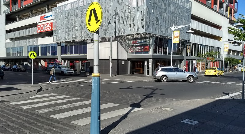 Zebra crossings in Footscray