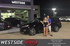 Happy Anniversary to Evarice on your #Kia #Sorento from Dennis Celespara at Westside Kia!