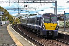 334013 arrives at Cardross