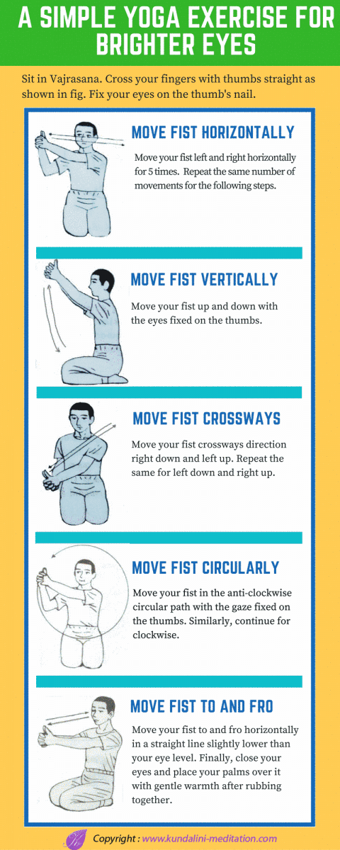 Simple Yoga Exercise for Brighter Eyes [Infographic]