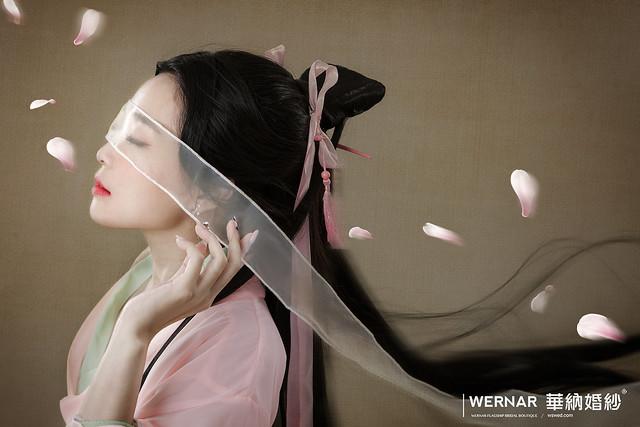 中國風,中式新娘,三生三世十里桃花,中式婚紗