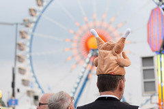 Man with a chicken hat - Oktoberfest 2017