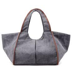 Women Canvas Large Capacity Vintage Retro Casual Shoulder Bag Handbag (1181368) #Banggood