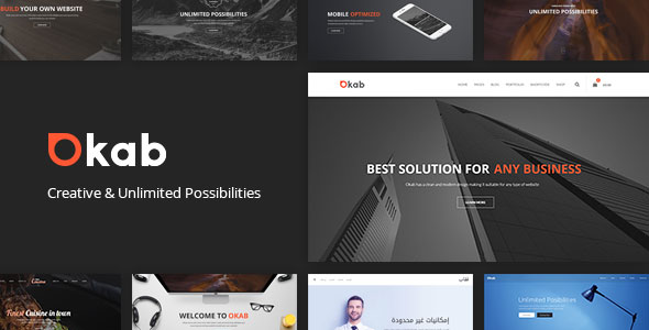 Okab v2.6.3 – Responsive Multi-Purpose WordPress Theme