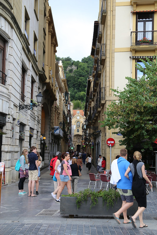 Pedestrian Traffic in San Sebastian