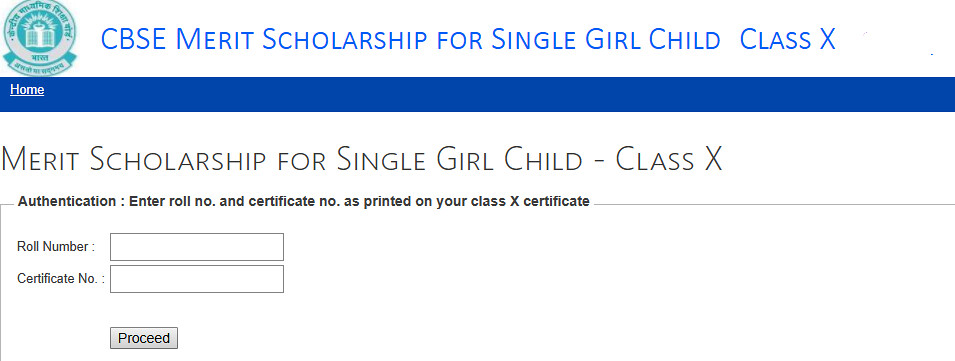CBSE Single Girl Child Scholarship 2019