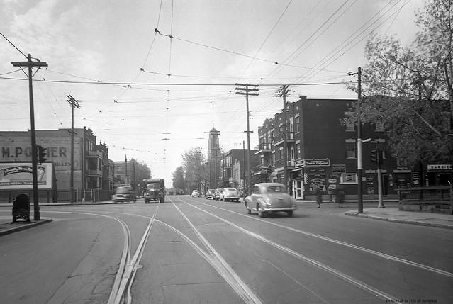 Rosemont-Petite-Patrie. Intersection Rosemont – De Lorimier. 1949. VM95-Y-1-1-3_11-002 (détail). Archives de la Ville de Montréal.