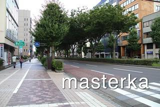 富山駅前の通り