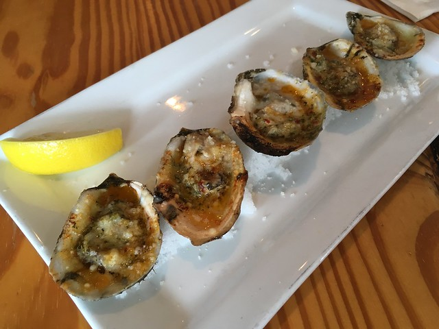 Wood fired oysters - Hog & Hominy