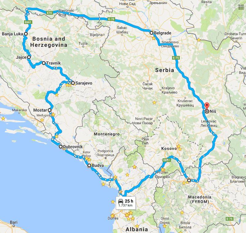 Balkan trip