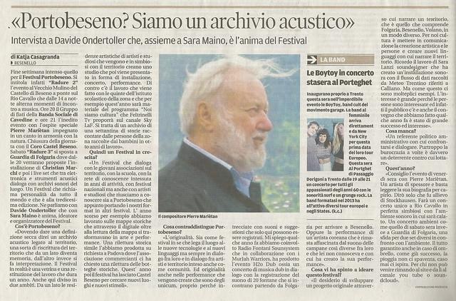 29 giugno 2017 cultura Trentino rassegna stampa