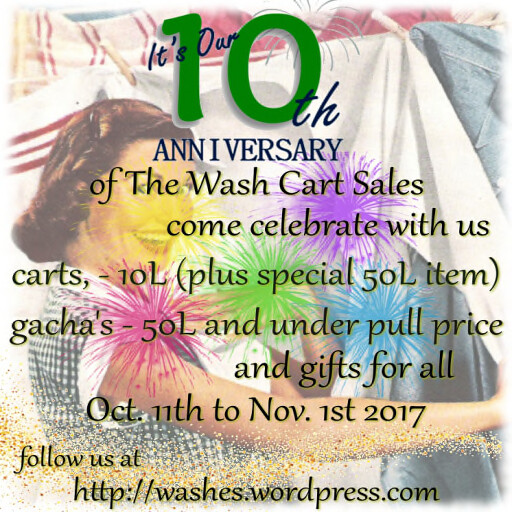 10th Anniversary Cart Sale Oct 2017 Poster