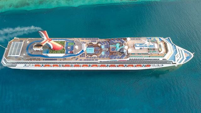 Carnival cruise ship captured in the Port of Nassau