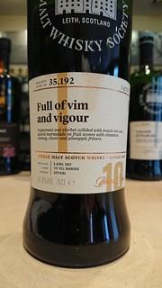 SMWS 35.192 - Full of vim and vigour