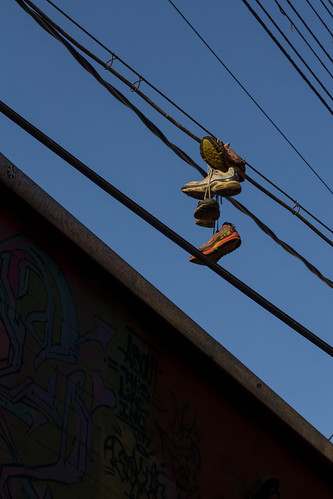 2017 alley artalley bluesky electricalline electricity frombelow line lookingup privpublic shoes