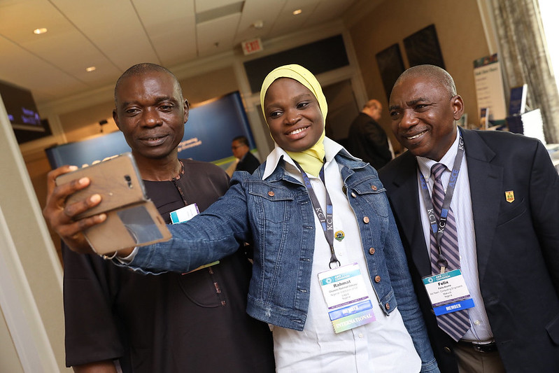 Members from Nigeria take a group selfie to send home. #ASCE17 PHOTO: Jason Dixson Photography