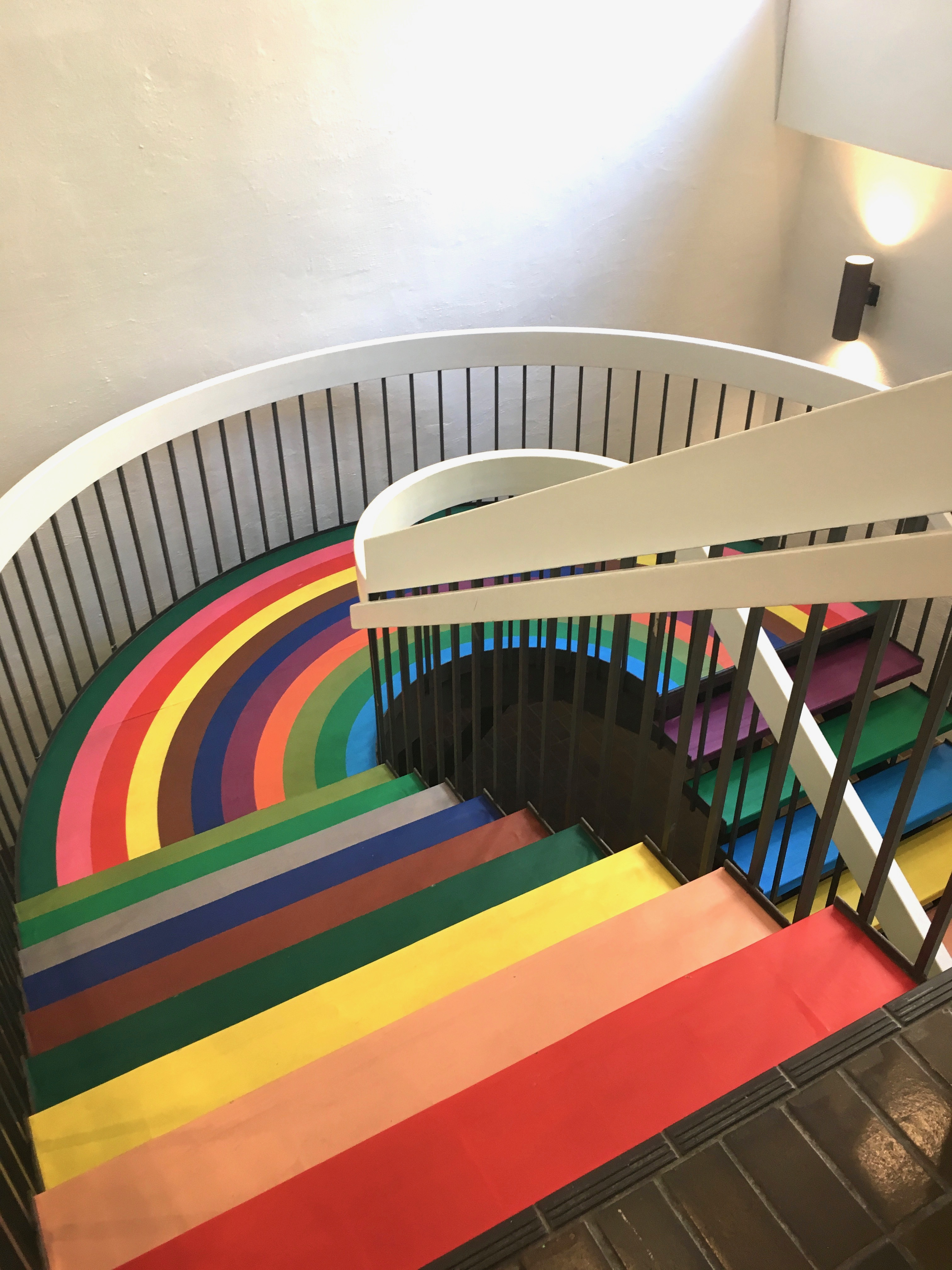 color factory - rainbow stairs