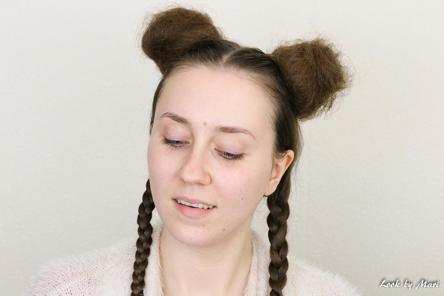 3 nutturakampaus kiharoilla linnunpesä kampaus hiukset biozell texturizing spray